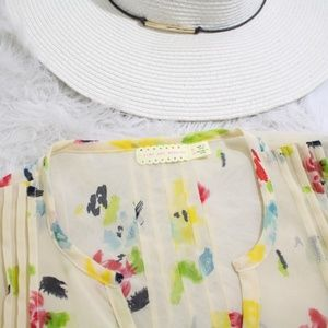 Urban Outfitters Tops - Pins and Needles UO Watercolor Chiffon Blouse